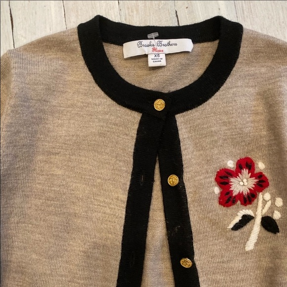 Brooks brothers fleece. cardigan